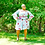Thumbnail: Plus Size Off The Shoulder Floral Belted Mini Dress