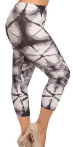 Multi Tie Dye Print Capri Leggings