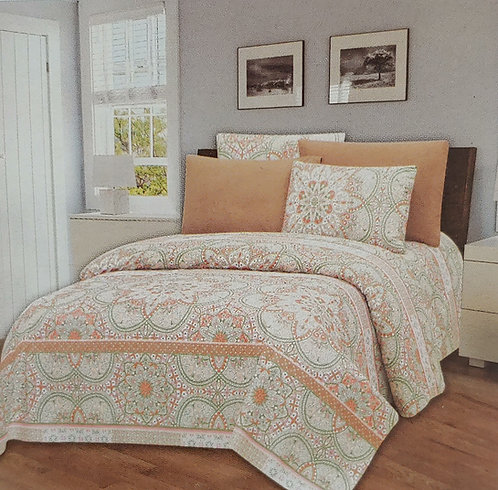 Glory Home King Sheet Set 1800 Series, Print Pattern- Wrinkle Free
