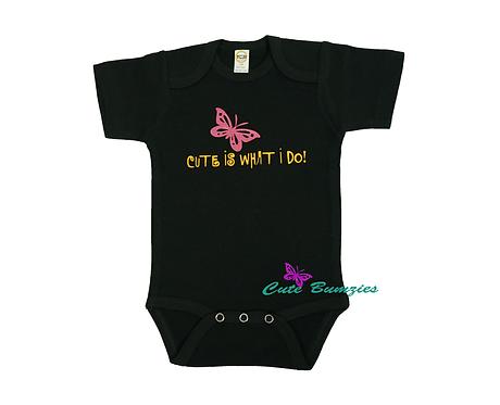 BABY CUTE BLACK ONESIE