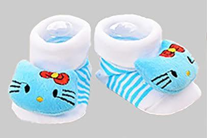 Blue Kitty Socks