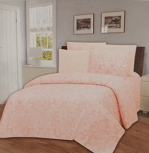 Glory Home Queen Sheet Set 1800 Series with Pink Print- Wrinkle Free