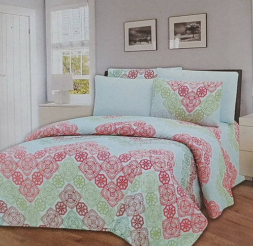 Glory Home Queen Sheet Set 1800 Series with Zigzag Print- Wrinkle Free