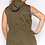 Thumbnail: Plus Size Green Hooded Utility Vest