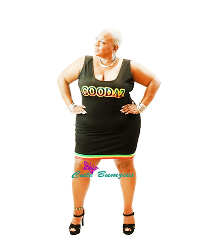 Plus Size GOODAZ SUBLIMATION BODYCON DRESS - LIMITED EDITION