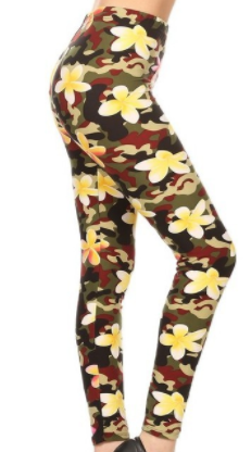 FLORAL PRINT LEGGINGS FULL LENGTH