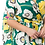 Thumbnail: Yellow and Green Floral print, a-line maxi dress with wrapped style
