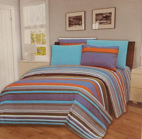 Glory Home King Sheet Set 1800 Series with Stripe Print- Wrinkle Free
