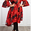 Thumbnail: - Plus Size Tapestry Pattern Embroidered Peacoat