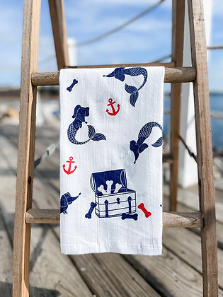 Far-Far-Away-Merwiener tea towel front view