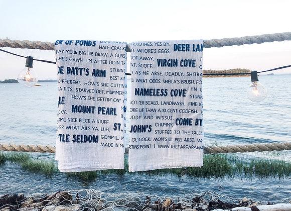 DISCOUNTED Newfoundland Slang Tea Towel