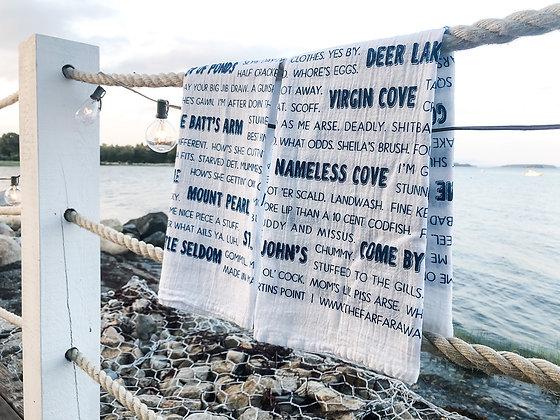 Newfoundland Slang Sayings Tea Towel