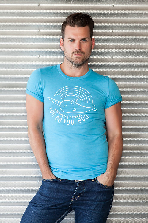 Pride Tee Shirt in light blue front view