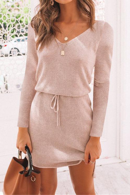 Lady's Soft Pink Lanon Dress