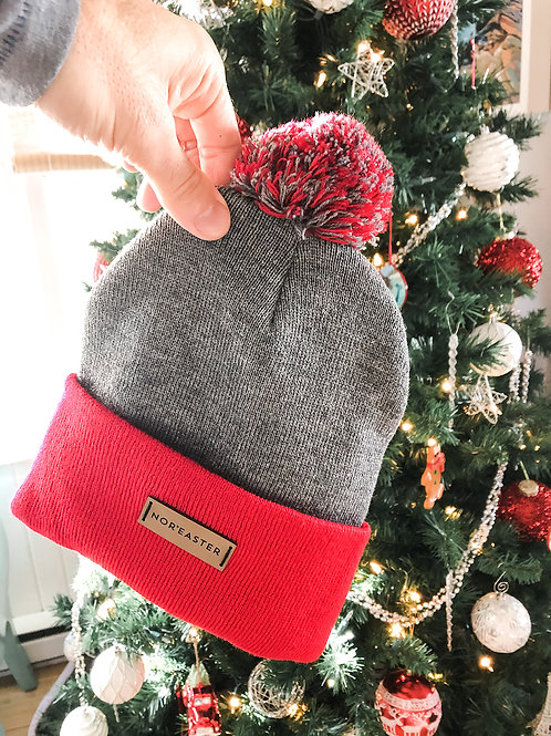 Red and Grey Toque