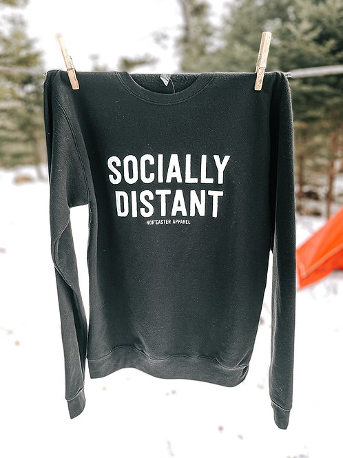 Socially Distant Crew Neck Fleece Sweater