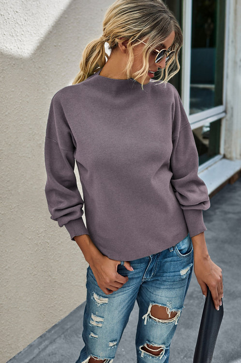 Nor'easter Women's Soft Knit Lavender Sweater front view