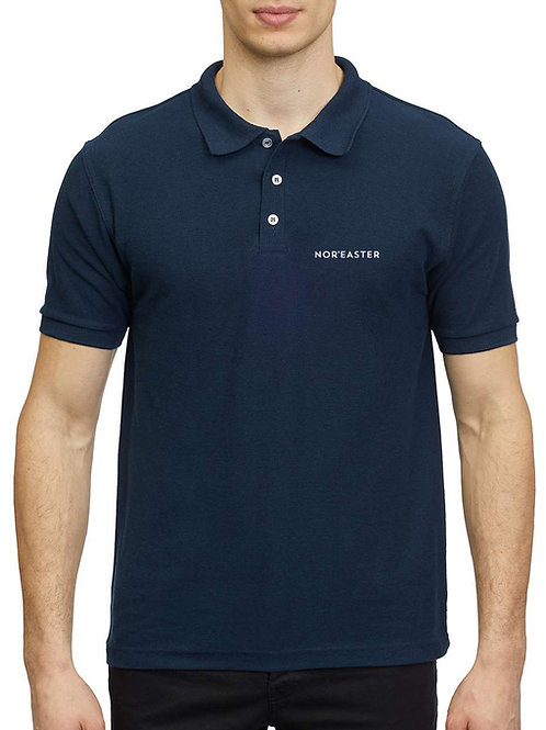 Nor'easter Men's Classic Polo Pique in navy front view