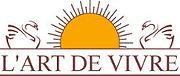 un logo avec deux cygnes et un soleil
