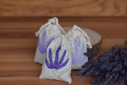 Lavender Sachet - Hand Painted