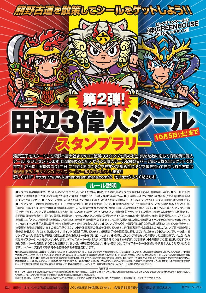 第2弾田辺偉人シールポスター