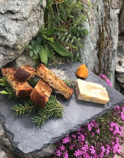 terrine de foie gras , chutney d'abricot