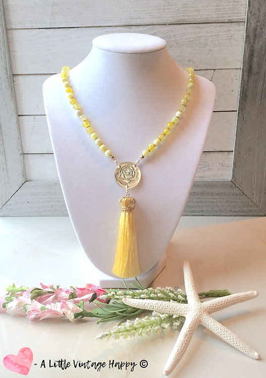Beauty and the Beast Tassel Necklace