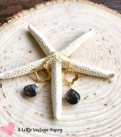 Sunstone Gold Earrings