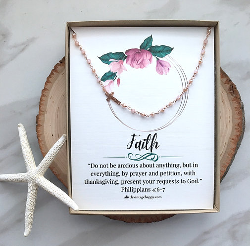 Faith in Rose Gold Necklace