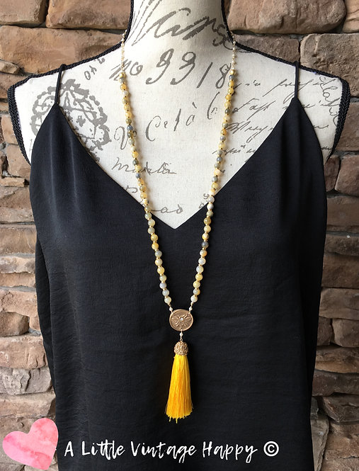 Sunny Day Tassel Necklace