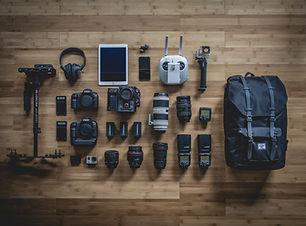 equipo de la fotografía