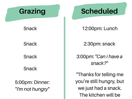 Why Setting a Meal Schedule Will Improve your Child's Eating