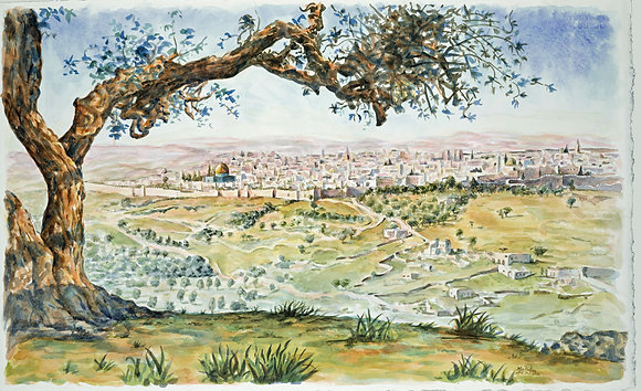 Old Jerusalem (Giclee on Watercolor Paper)