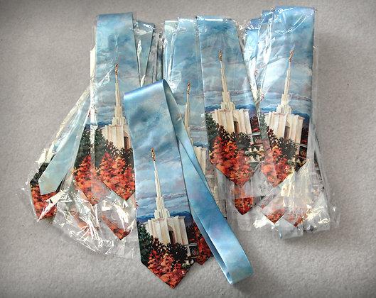 Denver Temple Silk Tie