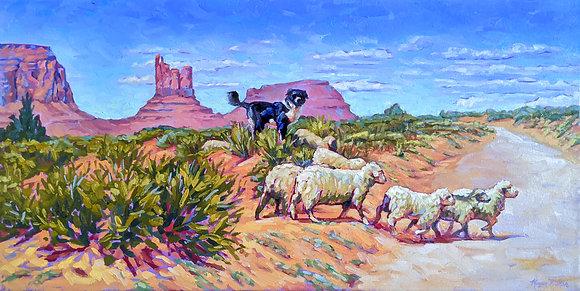 Monument Shepherd (framed)