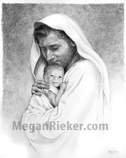 Christ with child - by Megan Rieker
