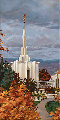 Matted Denver Temple Lithograph
