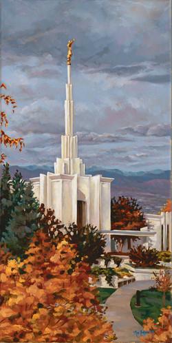 Denver Temple in Autumn
