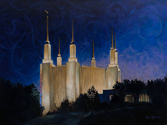 DC Temple -  giclee on paper