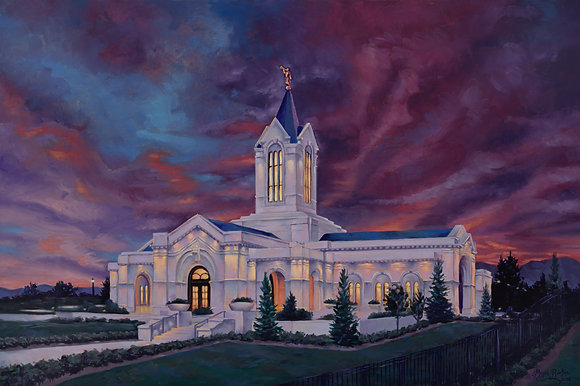 Ft Collins Colorado Temple (lg. Giclee on canvas)