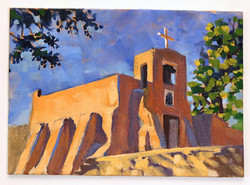 Morning at San Miguel Mission, Sante Fe.