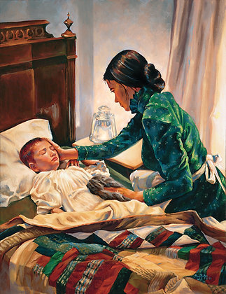 """He the Physician, I the Nurse"" Giclee on canvas"