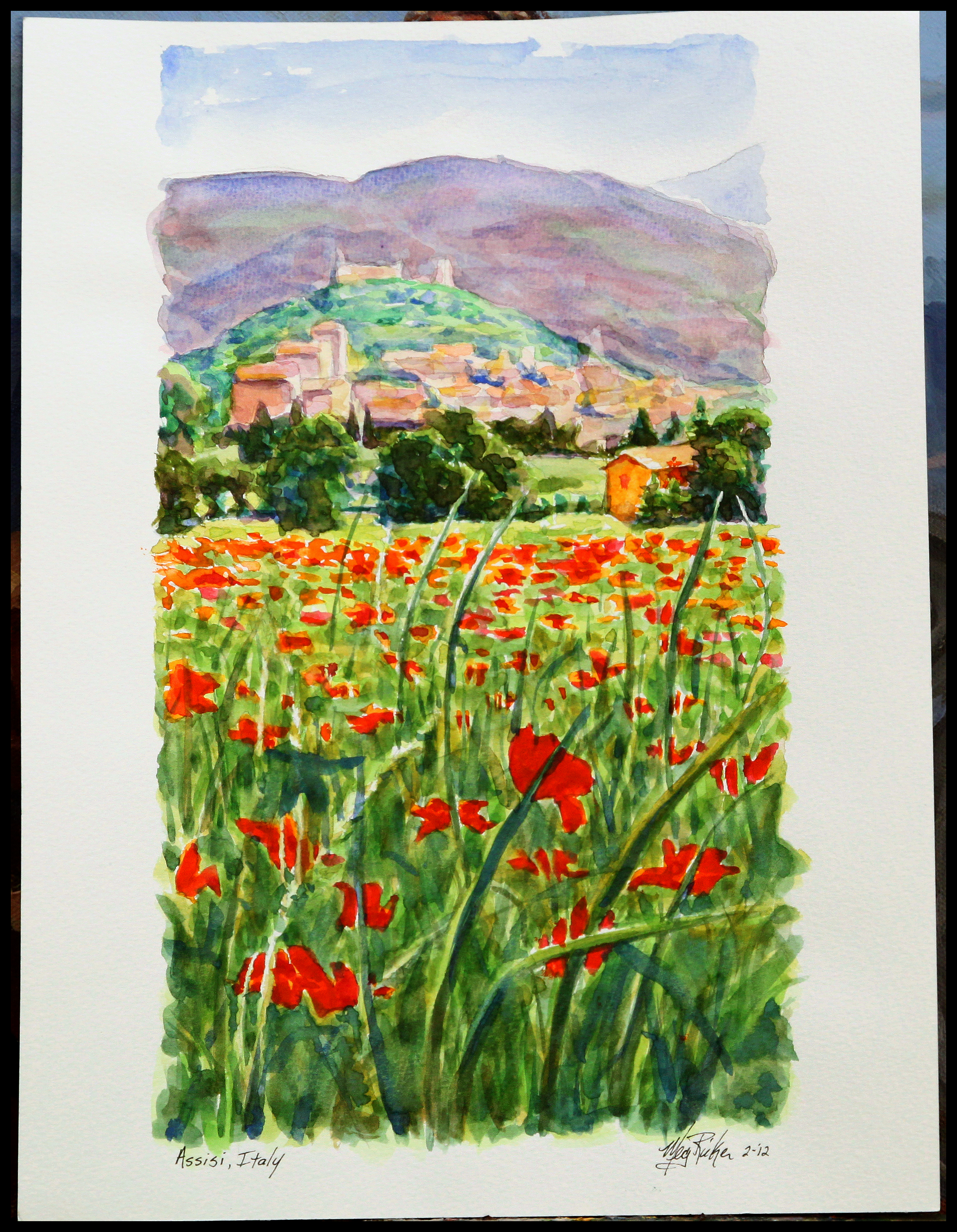 Assisi watercolor