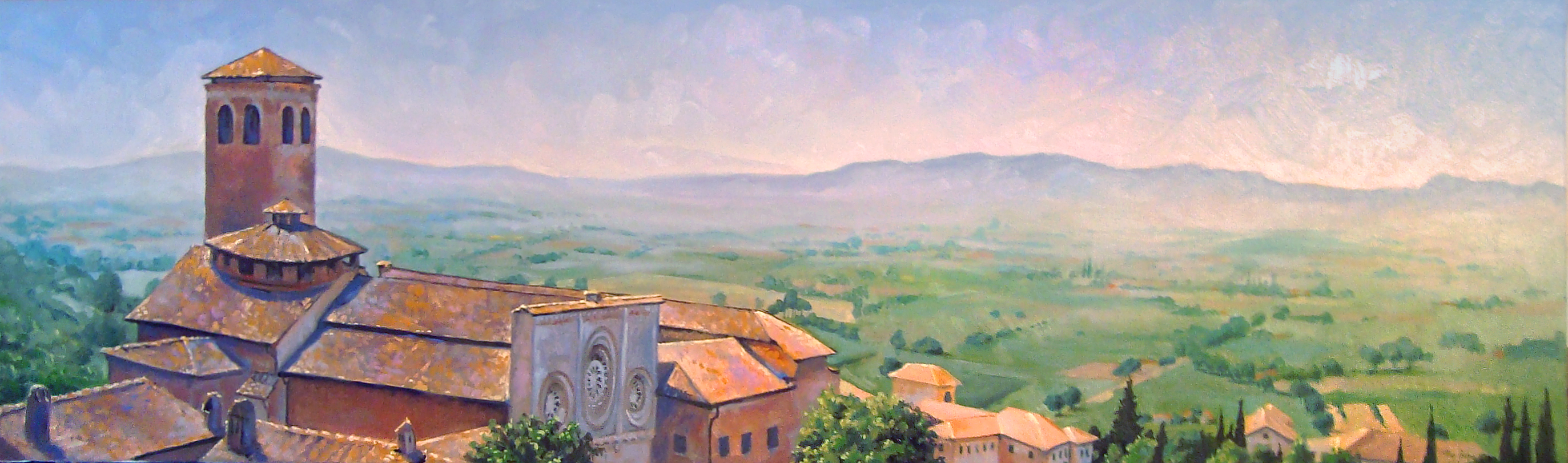 Assisi landscape painting '09