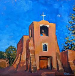 Evening at San Miguel Mission, Sante Fe.