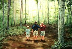 Preece Children in the Grove