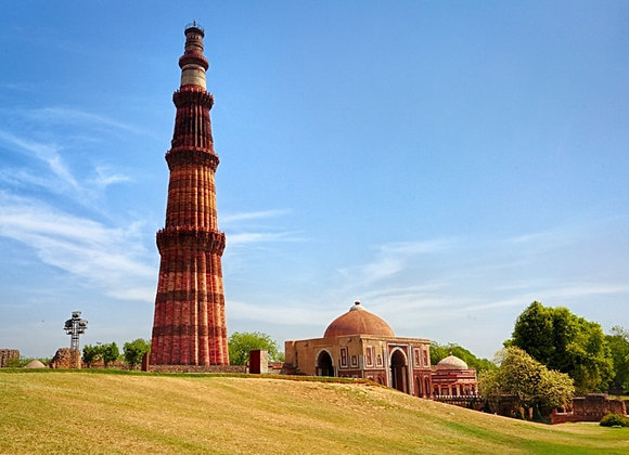 Golden Triangle with Qutub Minar & India Gate
