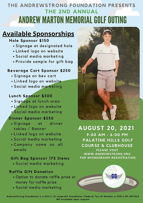 Sponsor Second Annual Memorial Golf Outing