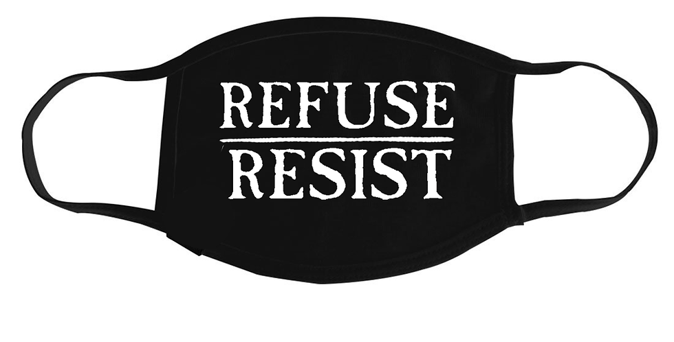 Refuse/Resist Facemask