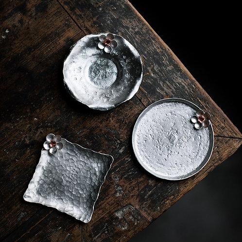 Vintage Metal Cup Coasters,Chinese Tea Ceremony Tea Set Accessories Whol